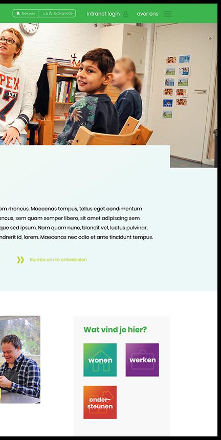 Hartekamp Groep website header rechts