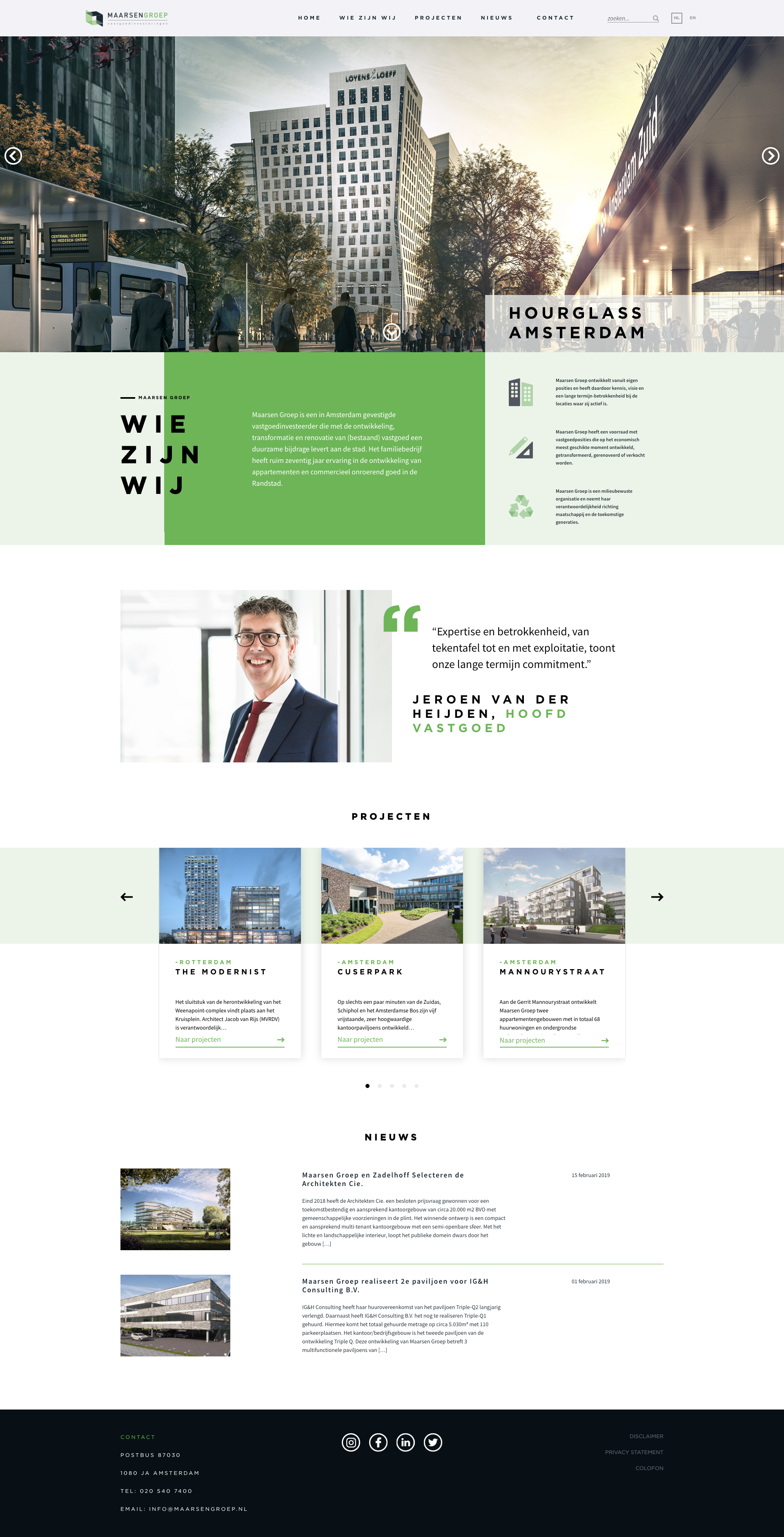 Maarsen Groep website homepage