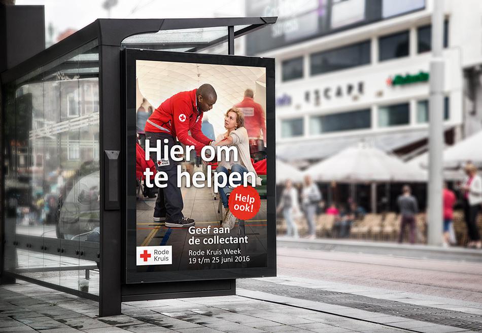 Rode Kruis abri hier om te helpen