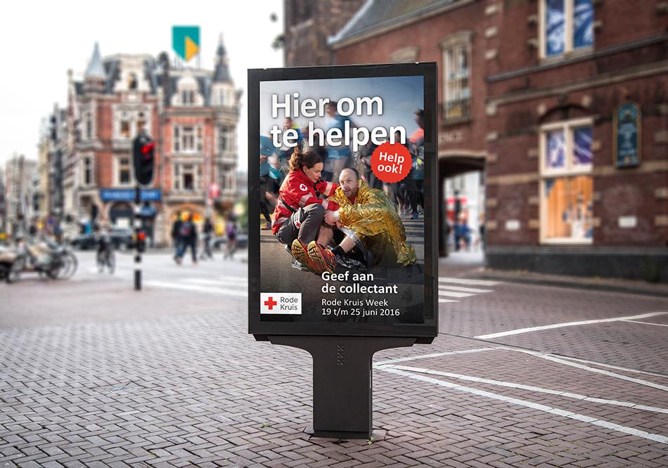 Rode Kruis abri hier om te helpen Muntplein