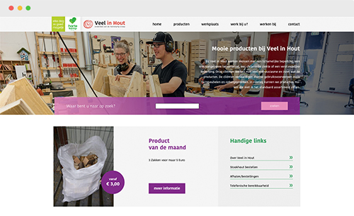 website Veel in Hout