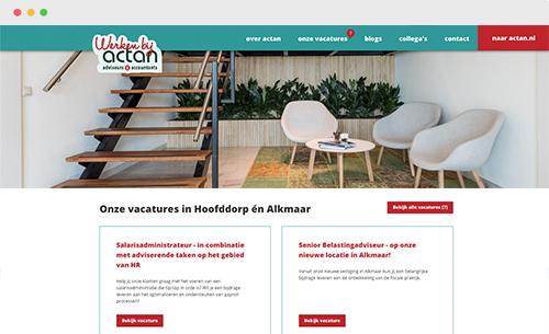 webdesign werken bij Actan